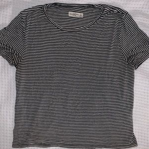 Horizontal, stripped, soft, cotton T-shirt